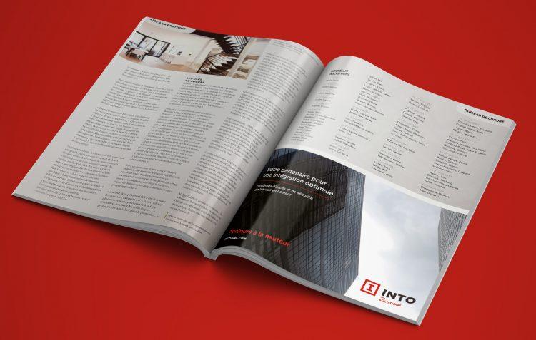 Stratégie et nouvelle image de marque pour INTO. Réalisation 30&1 Pub+Design