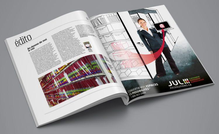 Réactualisation de l'image de marque et création d'outils de communication pour JUL Solutions. Réalisation 30&1 Pub+ Design.